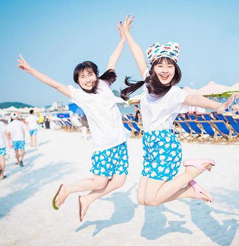 quần đôi đi biển