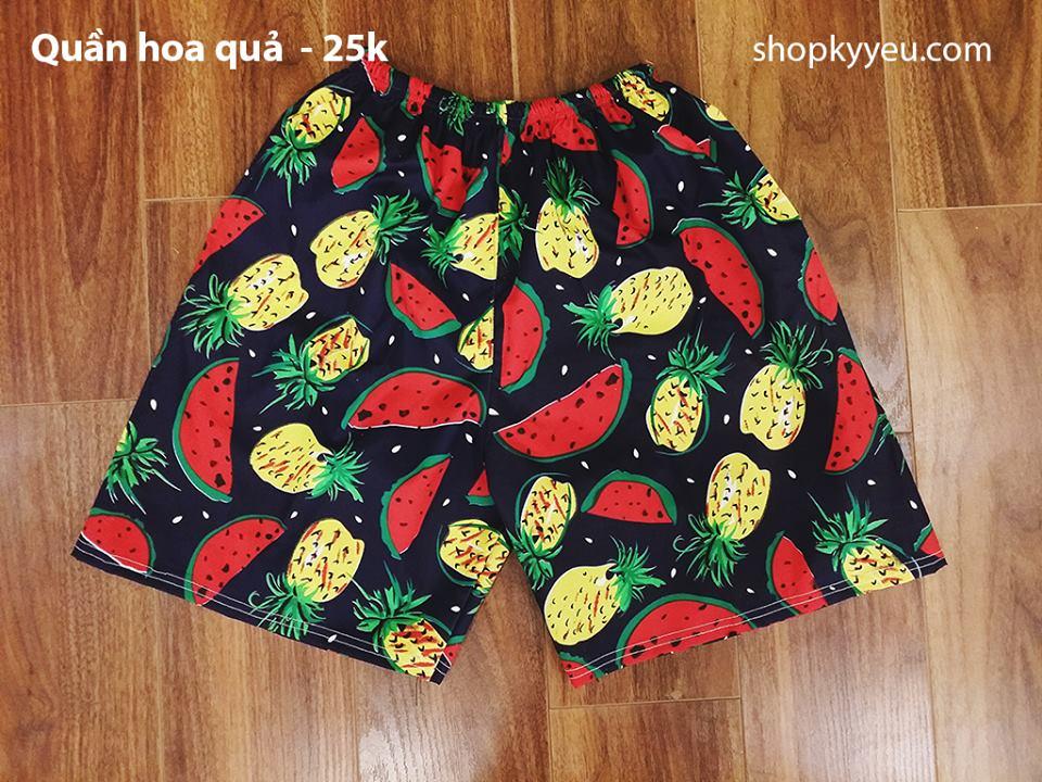 quần hoa quả