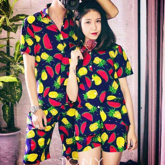 bộ quần áo hoa quả